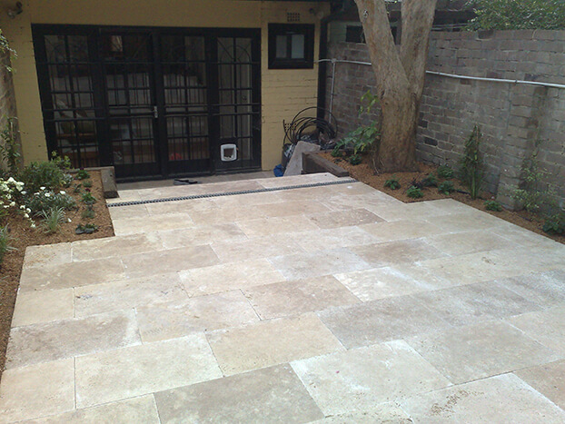 tile and marble paving