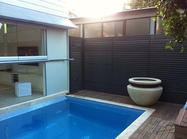 pool side paving and decking
