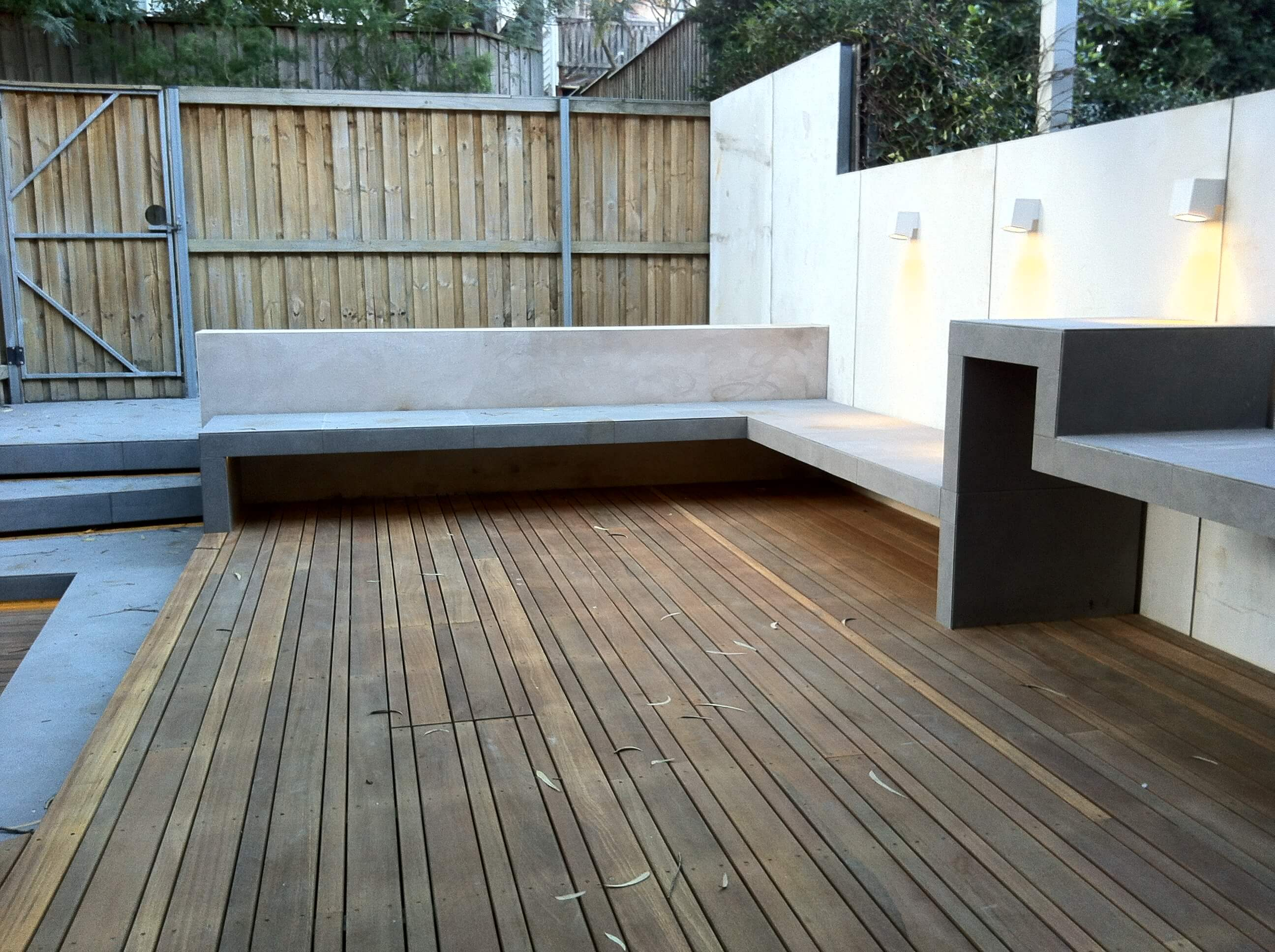 Galvanised Steel and Hardwood Decking