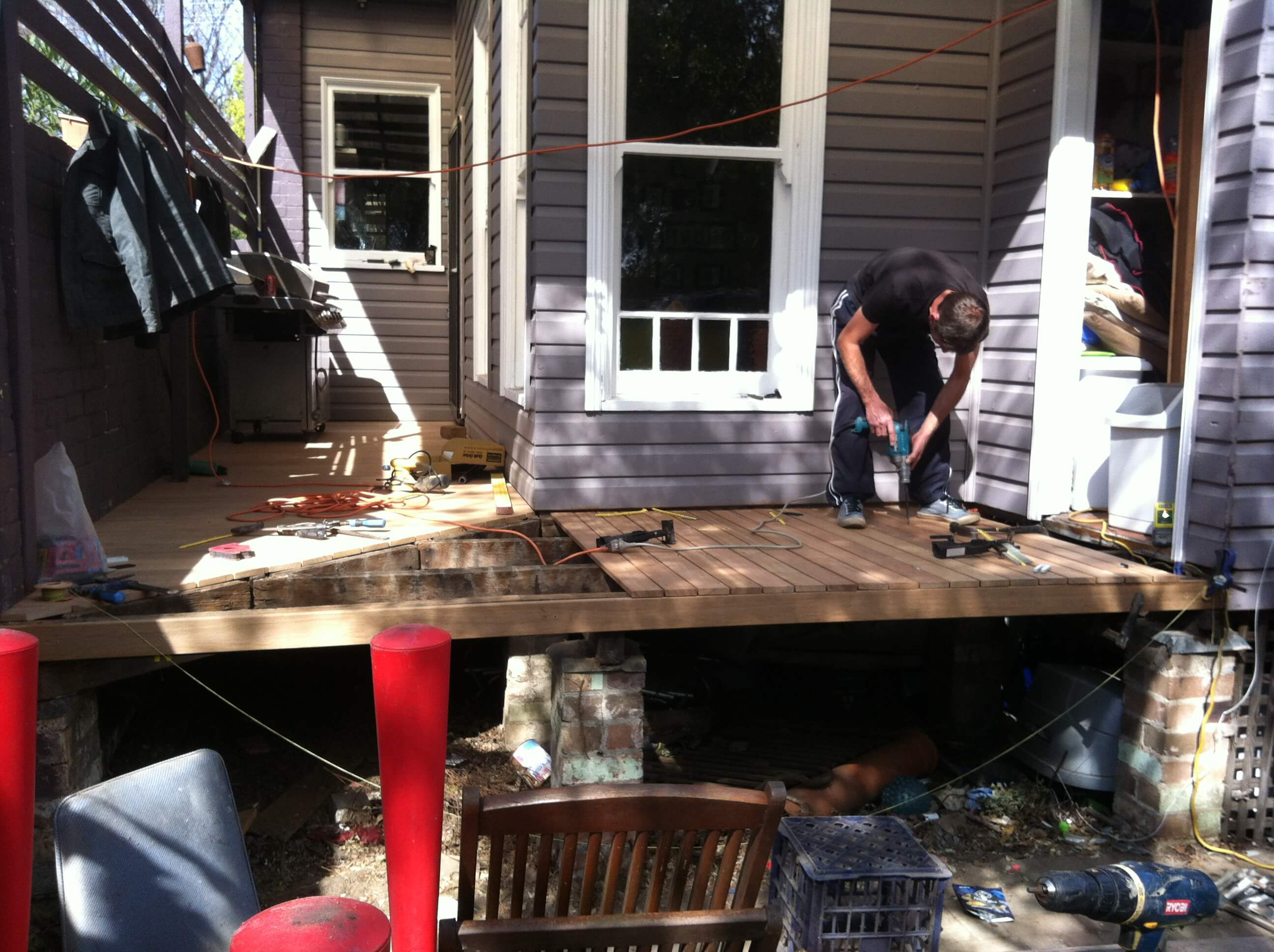Before. Work in progress to renovate deck, screen and pergola in Leichhardt